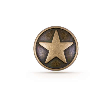 star wars: Bronze star symbol on isolated background Stock Photo