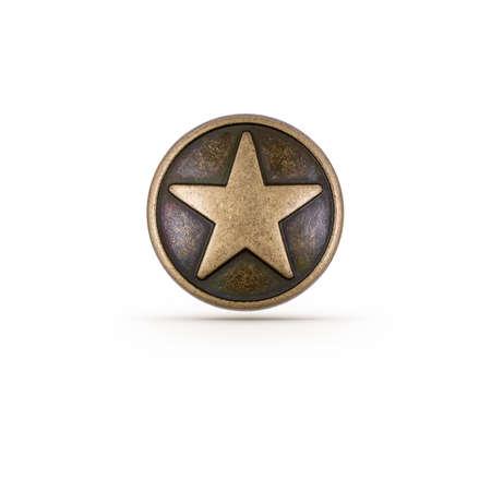 estrellas  de militares: S�mbolo de la estrella de bronce en el fondo aislado