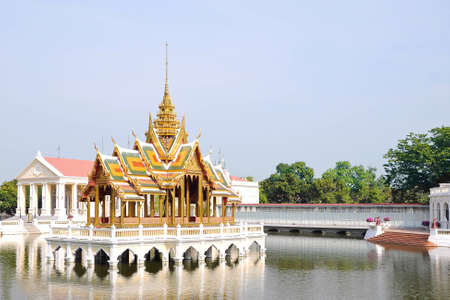 ayuttaya: Thai Pavilion in Bangpain Palace, a famous tourist attraction of Thailand.
