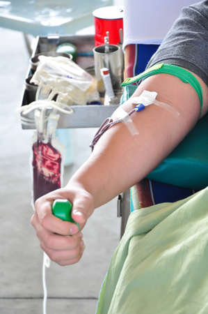 Blood Donation in Thailand. Stock Photo