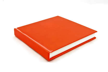 inclined: Isolated Inclined red note book