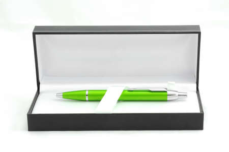 Green pen in luxury box photo