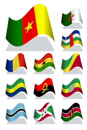 burundi: Africa bending flag