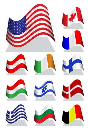 National bending flag Stock Vector - 10375580