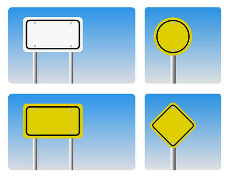 guidepost:  blank guidepost sign