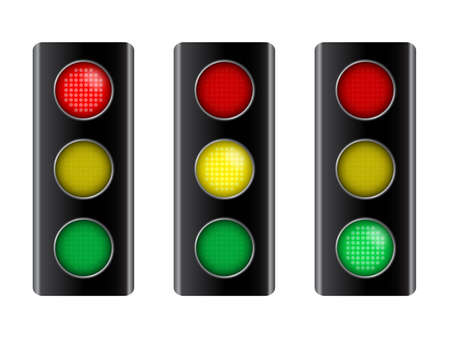 stop light: Vector illustration of traffic light signal Illustration