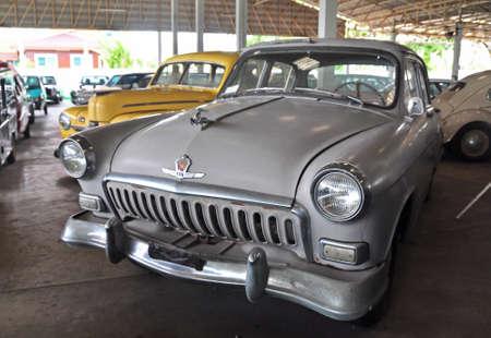 Nakornpathom, Thailand. - July 11, 2017 - GAZ M21 Volga was shown in Jesada Technik Museum, Nakornchaisri, Nakornpathom, Thailand. Editorial