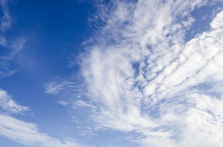 Nice blue sky and a white cloud