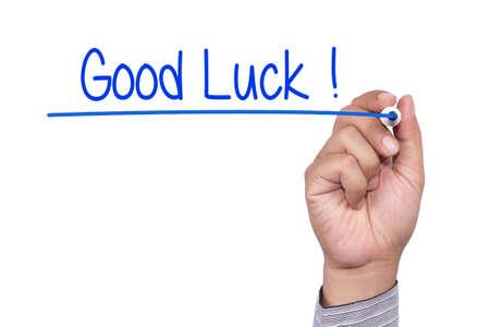 buena suerte: Escritura de la mano de la buena suerte