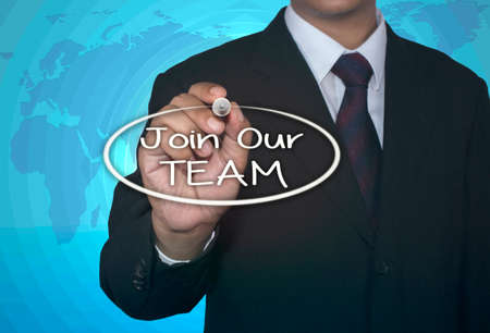 our: Join Our Team with marker, business concept