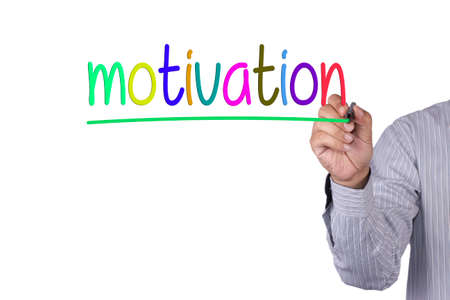 instigation: Hand writing Motivation with marker
