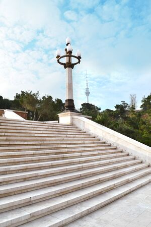 Stairs to highland park