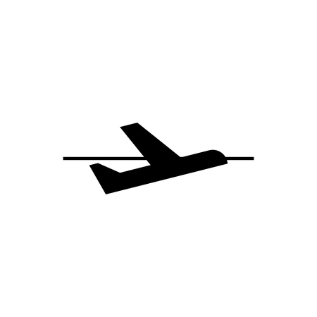 Airplane departure icon illustration on white background.