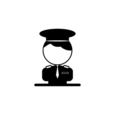 Pilot icon illustration on white background. Illustration