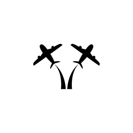 Flying up airplane icon on white background illustration. Illustration