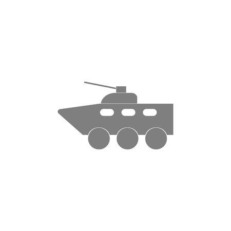 Armored vehicle icon on white background illustration. Ilustração