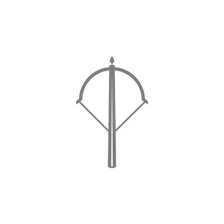 Crossbow icon on white background illustration. Çizim