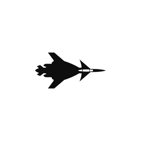 War plane icon. Military aircraft element icon. Premium quality graphic design icon. Professions signs, isolated symbols collection icon for websites, web design on white background.