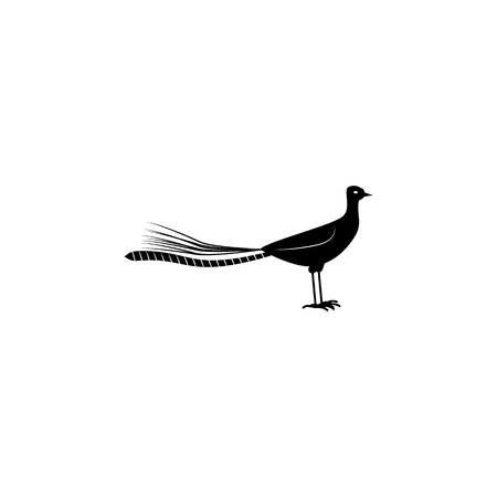 Lyrbird icon. Elements of the fauna of Australia icon. Premium quality graphic design icon. Baby Signs, outline symbols collection icon for websites, web design, mobile app on white background.