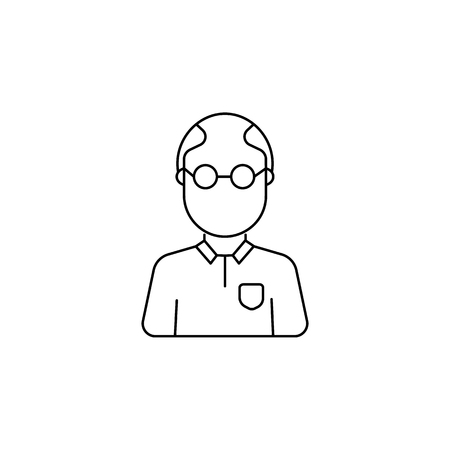 Teacher avatar icon on white background illustration. Illustration