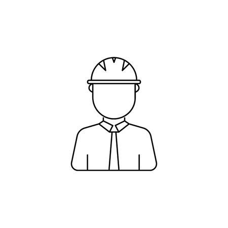 Construction Worker avatar Icon on white background. Illustration