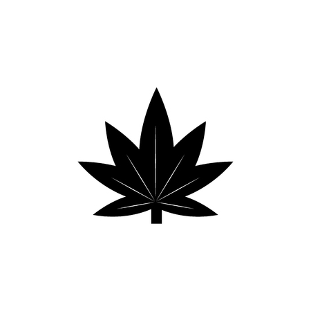 Marijuana leaf icon or cannabis icon. Human weakness, Addiction element icon. Premium quality graphic design. Signs, outline symbols collection icon for websites, web design on white background.