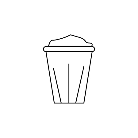 Disposable coffee cup icon on white background illustration. Иллюстрация