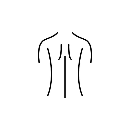 Female back shoulder icon. Body part element. Premium quality graphic design. Signs, outline symbols collection, simple thin line icon for websites, web design, mobile app, info graphics on white background.