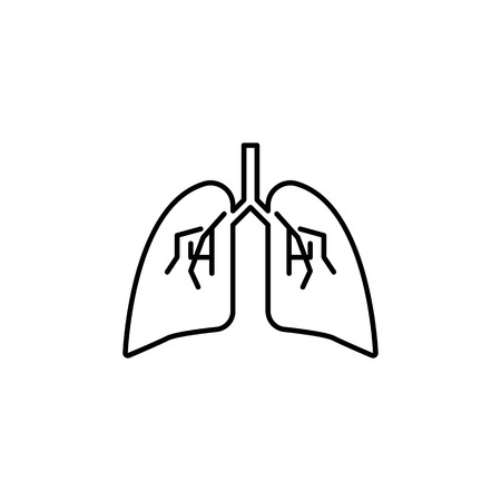 Lungs icon. Body part element. Premium quality graphic design. Signs, outline symbols collection, simple thin line icon for websites, web design, mobile app, info graphics on white background.