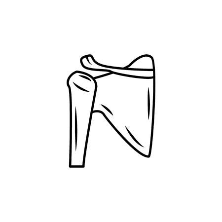 Shoulder joint isolated icon. Body part element. Premium quality graphic design. Signs, outline symbols collection, simple thin line icon for websites, web design, mobile app, info graphics on white background.