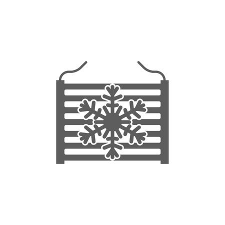 Radiatore nell'icona dell'automobile. Elementi dell'icona di riparazione auto. Grafica di qualità premium. Segni, icona di raccolta simboli di struttura per siti Web, web design, app mobile, informazioni grafiche su sfondo bianco. Archivio Fotografico - 94355162