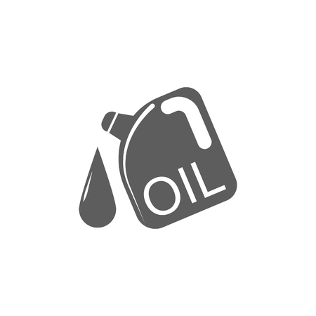 Replacing The Engine Oil Flat Line Design Vector Icon Symbol
