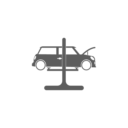 Car on a lift icon. Elements of car repair icon. Premium quality graphic design. Signs, outline symbols collection icon for websites, web design, mobile app, info graphic on white background.