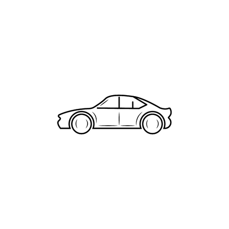 Car line icon on white background illustration.