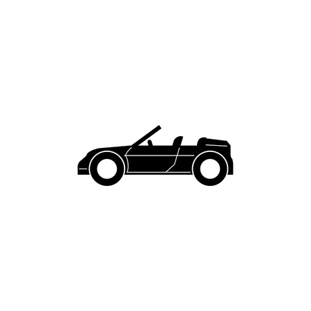Convertible Sports Car icon. Car type simple icon. Transport element icon. Premium quality graphic design. Signs, outline symbols collection icon for websites, web design on white background Ilustração