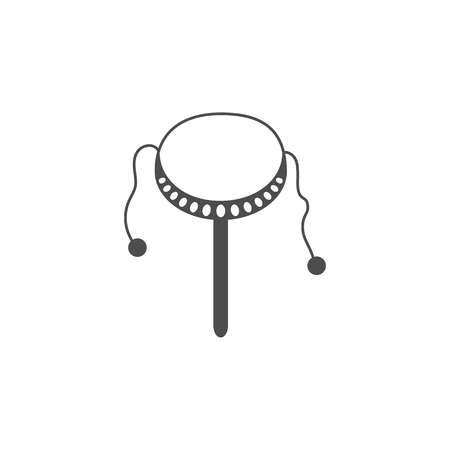 Toy drum icon. Elements of Chinese culture icon. Premium quality graphic design icon. Baby Signs, outline symbols collection icon for websites, web design, mobile app on white background.