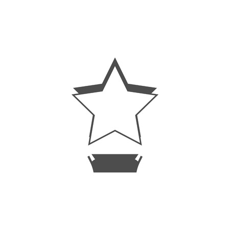 Cinematographic star cup icon. Cinema element icon. Premium quality graphic design. Signs, outline symbols collection icon for websites, web design, mobile app, info graphics on white background Illustration