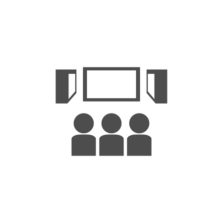 Viewers in the cinema icon. Cinema element icon. Premium quality graphic design. Signs, outline symbols collection icon for websites, web design, mobile app, info graphics on white background