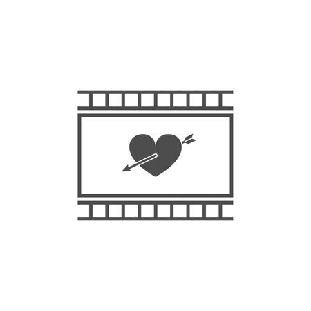 Icône de mélodrame. Icône d'élément de cinéma. Conception graphique de qualité supérieure. Signes, icône de la collection de symboles de contour pour sites Web, conception de sites web, application mobile, graphiques d'informations sur fond blanc Banque d'images - 94350636