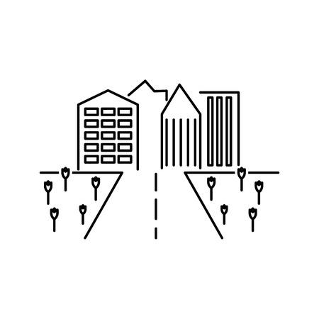 City scape line icon. Element for mobile concept and web apps. Thin line vector icon for website design and development, app development. Premium icon on white background