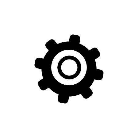 Tandwiel pictogram. Elementen van het pictogram van de hulpmiddelen van de bouw. Hoogwaardig grafisch ontwerp. Tekens, overzicht symbolen collectie pictogram voor websites, webdesign, mobiele app, info graphics op witte achtergrond Stock Illustratie