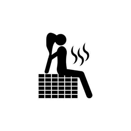 To take a sauna. Elements of beauty saloon icon. Premium quality graphic design. Signs, outline symbols collection icon for websites, web design, mobile app on white background