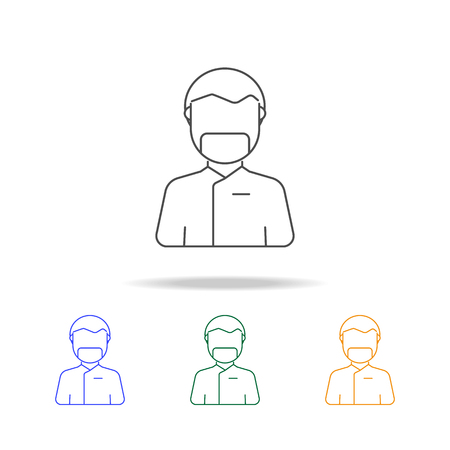 Medical surgery doctor avatar multicoloured icons. Element of profession avatar of for mobile concept and web apps. Thin line  icon for website design and development on white background