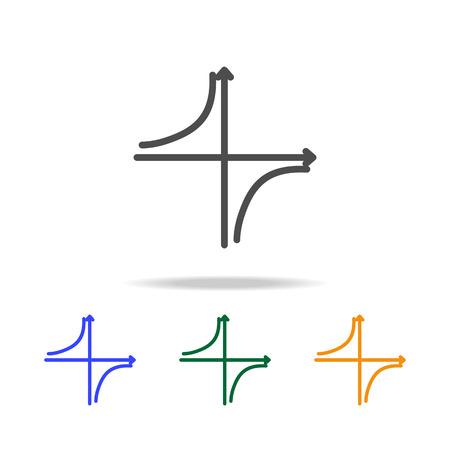 mathematical chart icons. Element of edecation for mobile concept and web apps. Thin line  icon for website design and development, app development. Premium multicolor icons on white background Illustration