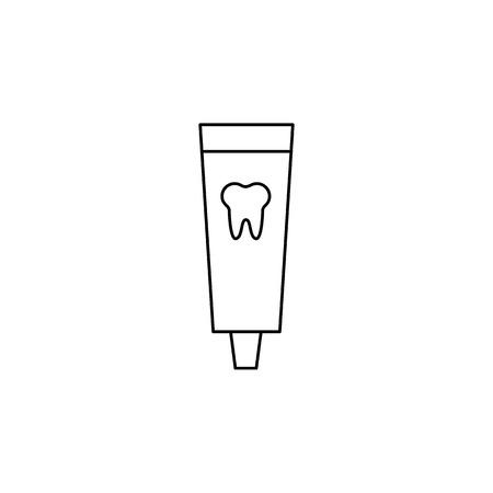 Toothpaste icon on white background