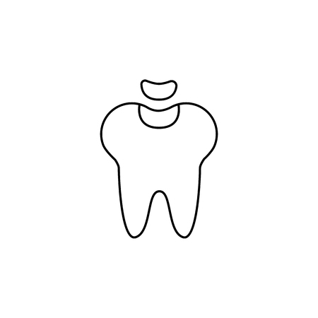 Dental fillings icon. Tooth restoration sign. Stomatology sign. Dental care symbol. Notebook, Calendar and Cogwheel signs. Download arrow web icon on white background