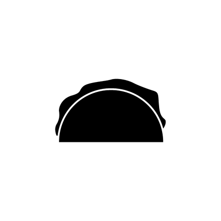 sandwich icon simple black eating icon Can be used as web element, eating design icon on white background