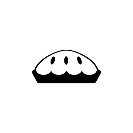 pie icon simple black eating icon Can be used as web element, eating design icon on white background