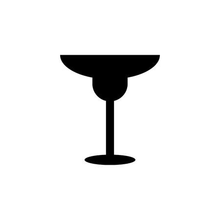 Cocktail glass icon simple black eating icon Can be used as web element, eating design icon on white background