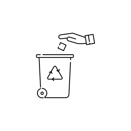 Recycling center icon on white background